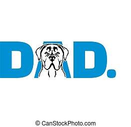 Cane Corso best dad ever blue