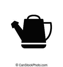 cane  glyph flat icon