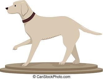 cane, illustrazione, taxidermy