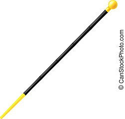 Cane isolated on a white background. Vector illustration.