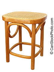 Cane Stool isolated with clipping path