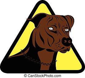 cane, terrier, staffordshire, segno