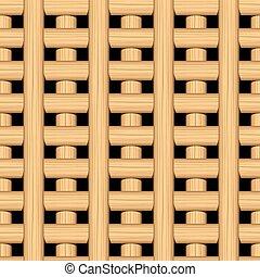 Cane wicker lattice in a seamless pattern