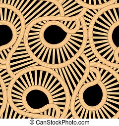 Cane wicker tear drop seamless pattern .