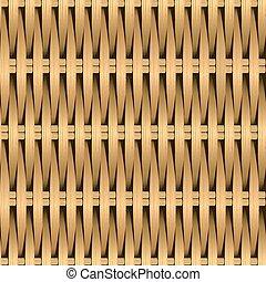 Cane wicker woven fiber seamless pattern