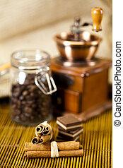 canela, e, café
