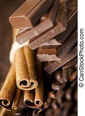 canela, e, chocolate