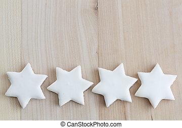 canela, estrellas, galletas navidad, con, texto, espacio