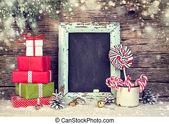 canes., kabiny, cukierek, boże narodzenie, świąteczny, dar, ozdoba