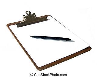 caneta, área de transferência