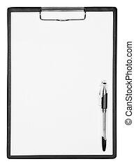 caneta, área de transferência, em branco