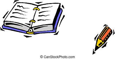 caneta, chafariz, escrita