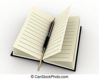 caneta, diário
