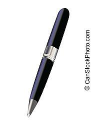 caneta, gotas, tinta
