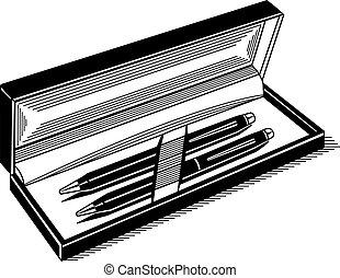 caneta marcador, vetorial, ilustração, ícone