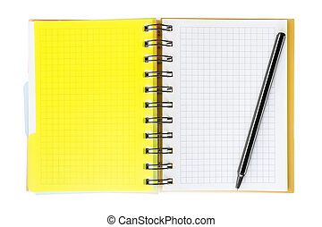caneta, notepad, aquilo