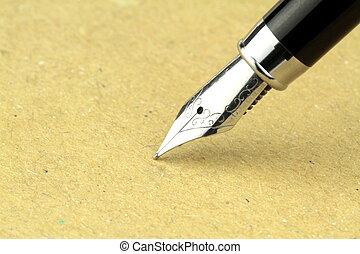 caneta, papel, chafariz, cópia, espaço
