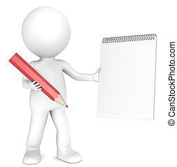 caneta, papel