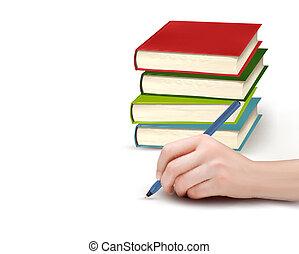 caneta, papel, passe escrito