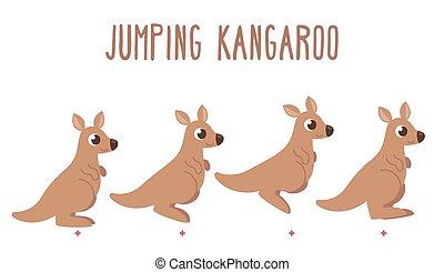 canguru, Pular, caricatura