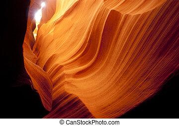canhão slot, arenito, rocha, geologia, deserto, sudoeste,...