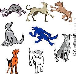 canine-CARTOON-SET-01A - Set or collection of cartoon ...