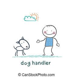 canine training a dog