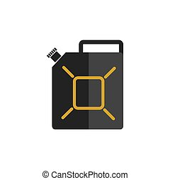 canister color icon flat vector