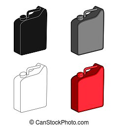 Canister for gasoline. Oil single icon in cartoon style vector symbol stock illustration web.