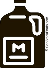 canister milk icon Vector Glyph Illustration