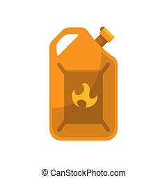 Canister of gasoline. Fuel holder in retro design. Vector Illustration isolated on white background.