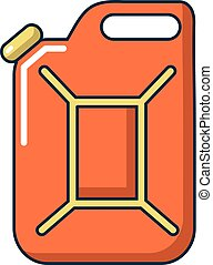 Canister of gasoline icon, cartoon style