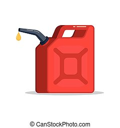 Canister of gasoline with a drop fuel