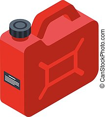 Canister oil icon, isometric style