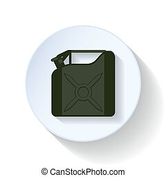 Canister service flat icon