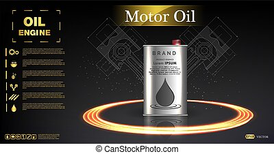 Canister vector jerrican or can of fuel gasoline for automobile and plastic jerrycan with petrol or oil illustration.Bottle engine oil