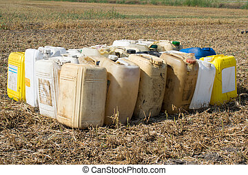 Canisters with chemicals - Canisters with fuel or other...