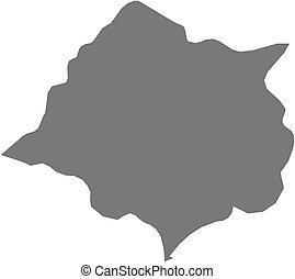 cankuzo, landkarte, -, (burundi)