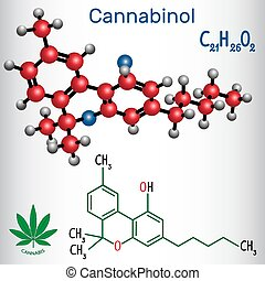 Cannabinol (CBN) - structural chemical formula and molecule ...