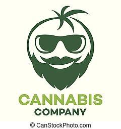 Cannabis and man logo