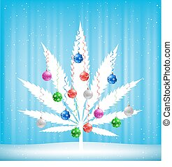 cannabis, arbre, noël