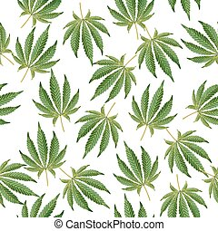 Cannabis Background. Marijuana Hemp Texture. Green Leaf. Hashish Narcotic.