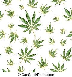 Cannabis Background. Marijuana Hemp Texture. Green Leaf. Hashish Narcotic.