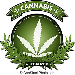 Cannabis Badge design vector