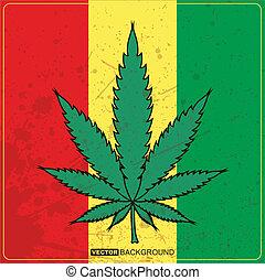 cannabis, blättert