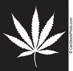 cannabis blad, ikon