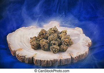 cannabis buds (deep purple strain) - medical marijuana...