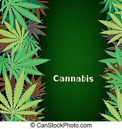 cannabis, cânhamo, fundo