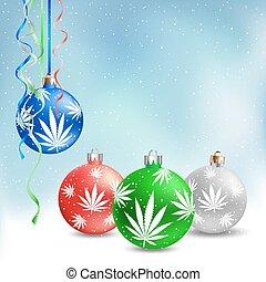 cannabis, chanvre, balles, noël