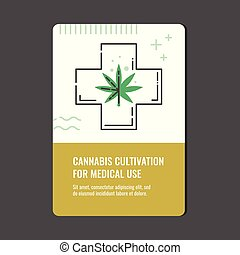 Cannabis cultivation for medical use vertical banner.